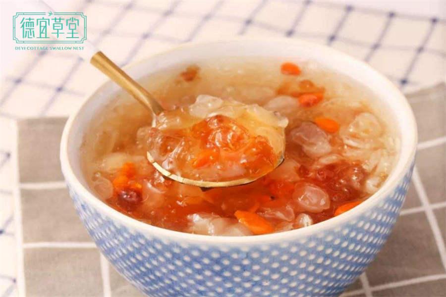 桃胶燕窝皂角米的做法与功效